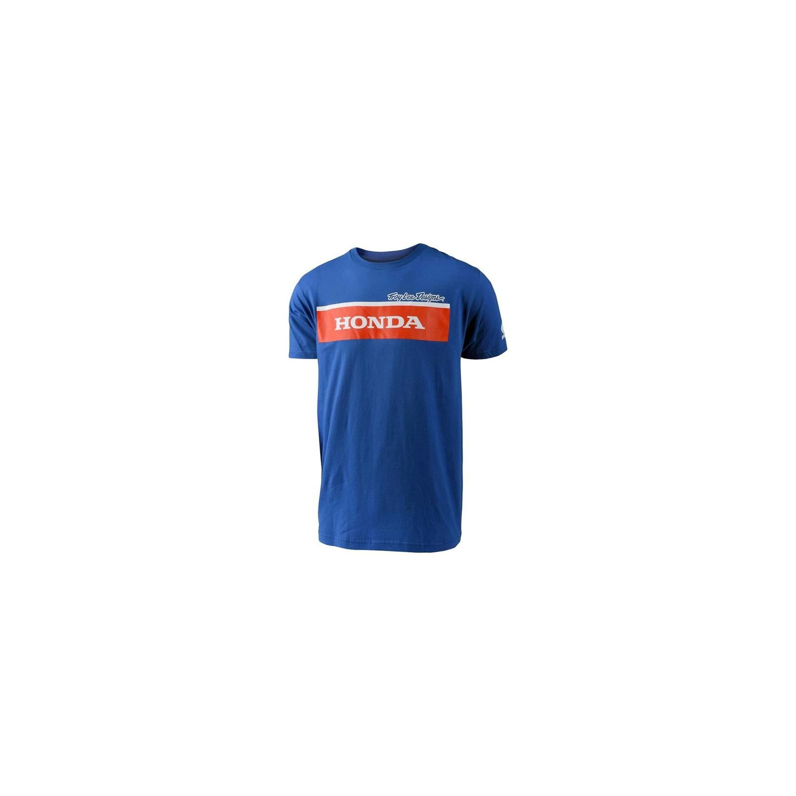 T-Shirt Honda Wing Block Bleu