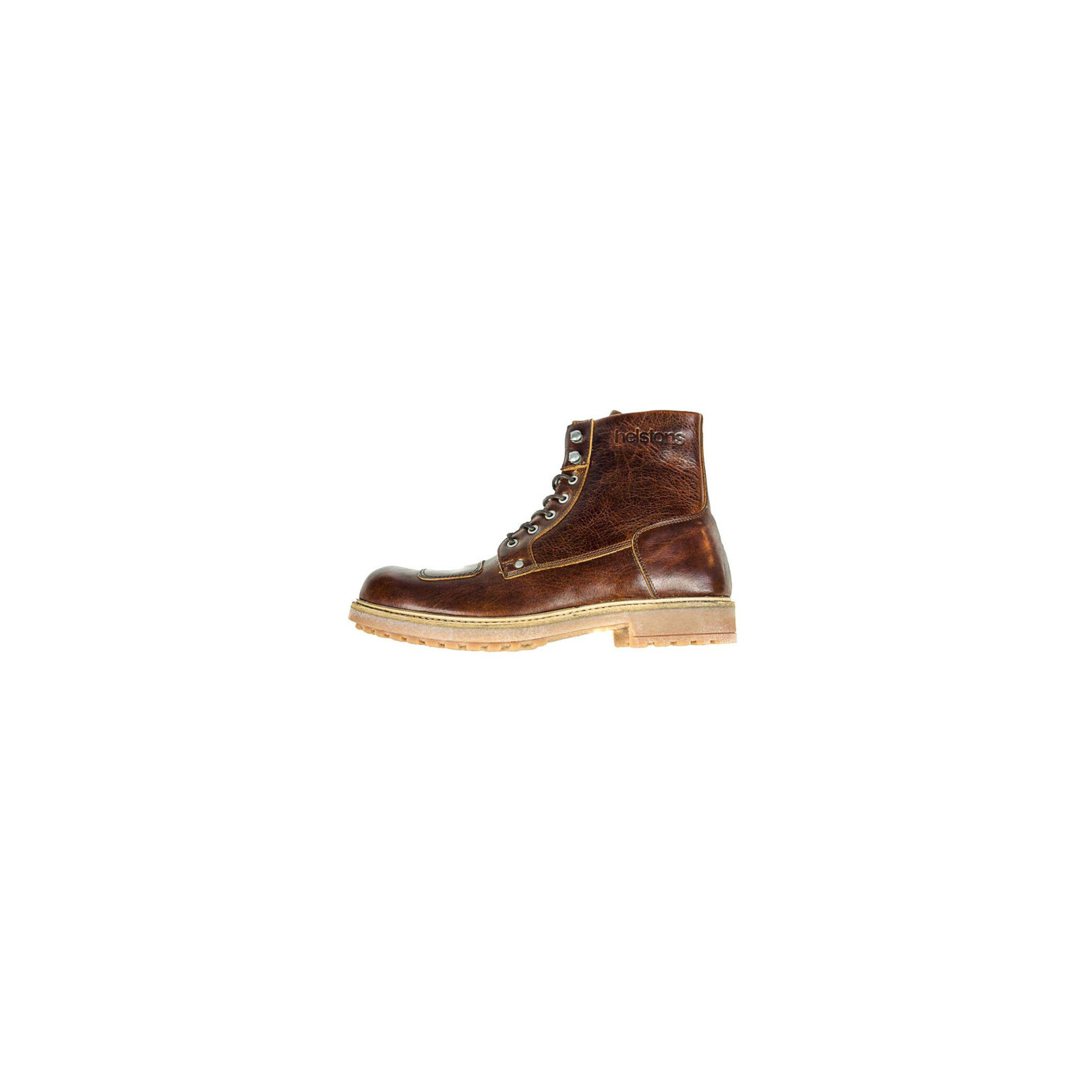Chaussures Helstons Mountains Cuir Aniline Marron